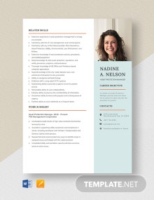 Asset Protection Manager Resume Template