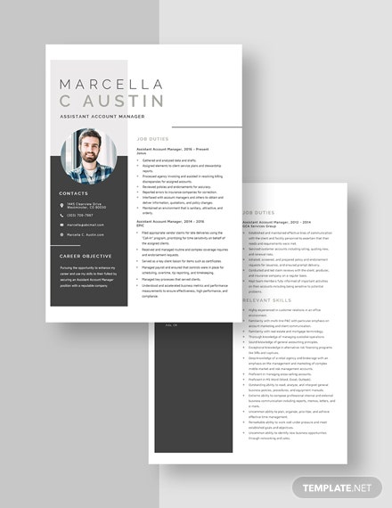 Assistant Account Manager Resume Download
