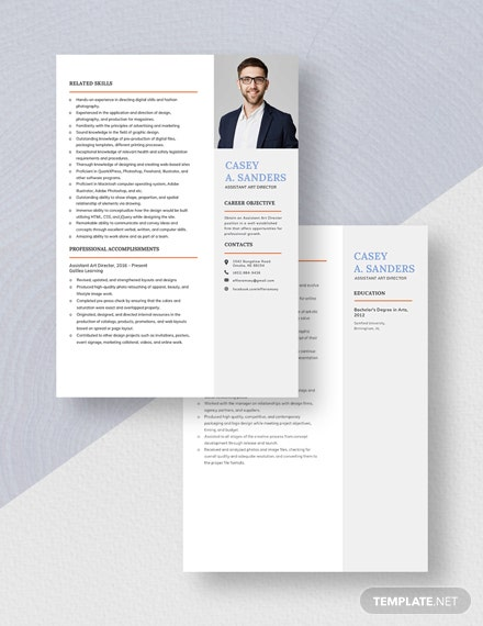 Assistant Art Director Resume Download
