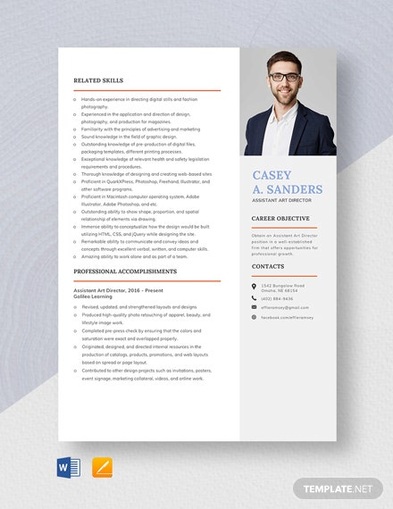 Assistant Art Director Resume