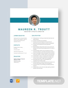 Assistant Athletic Director Resume Template