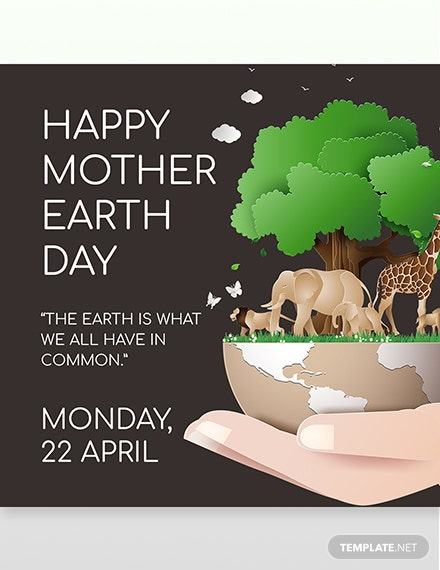 Instagram Mother Earth Template  - PSD