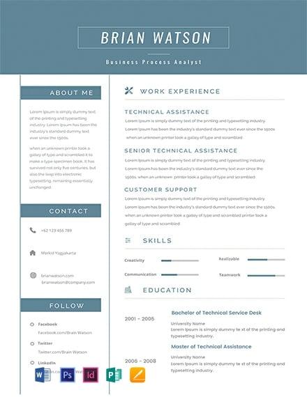 Senior Business Process Resume Template