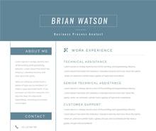 Free Senior Business Process Resume Template