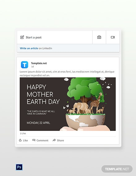 Free Linkedin Earth Day Template