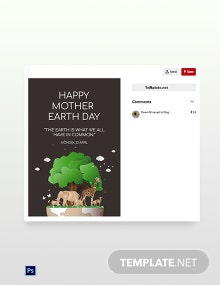 Free Pinterest Earth Day Template