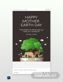 Free Tumblr Earth Day Template