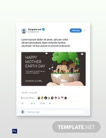 Free Twitter Earth Day Template