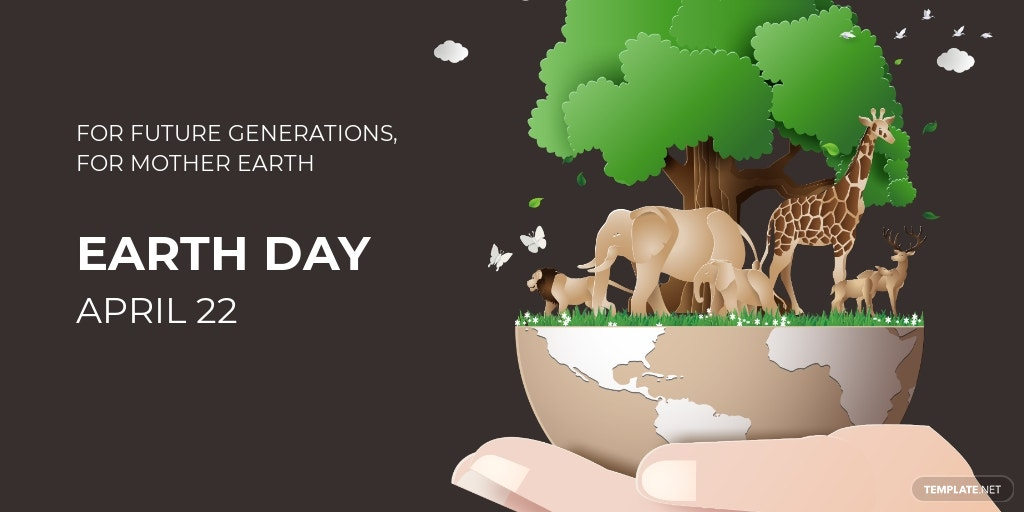 Twitter Earth Day Template [Free JPG] - PSD
