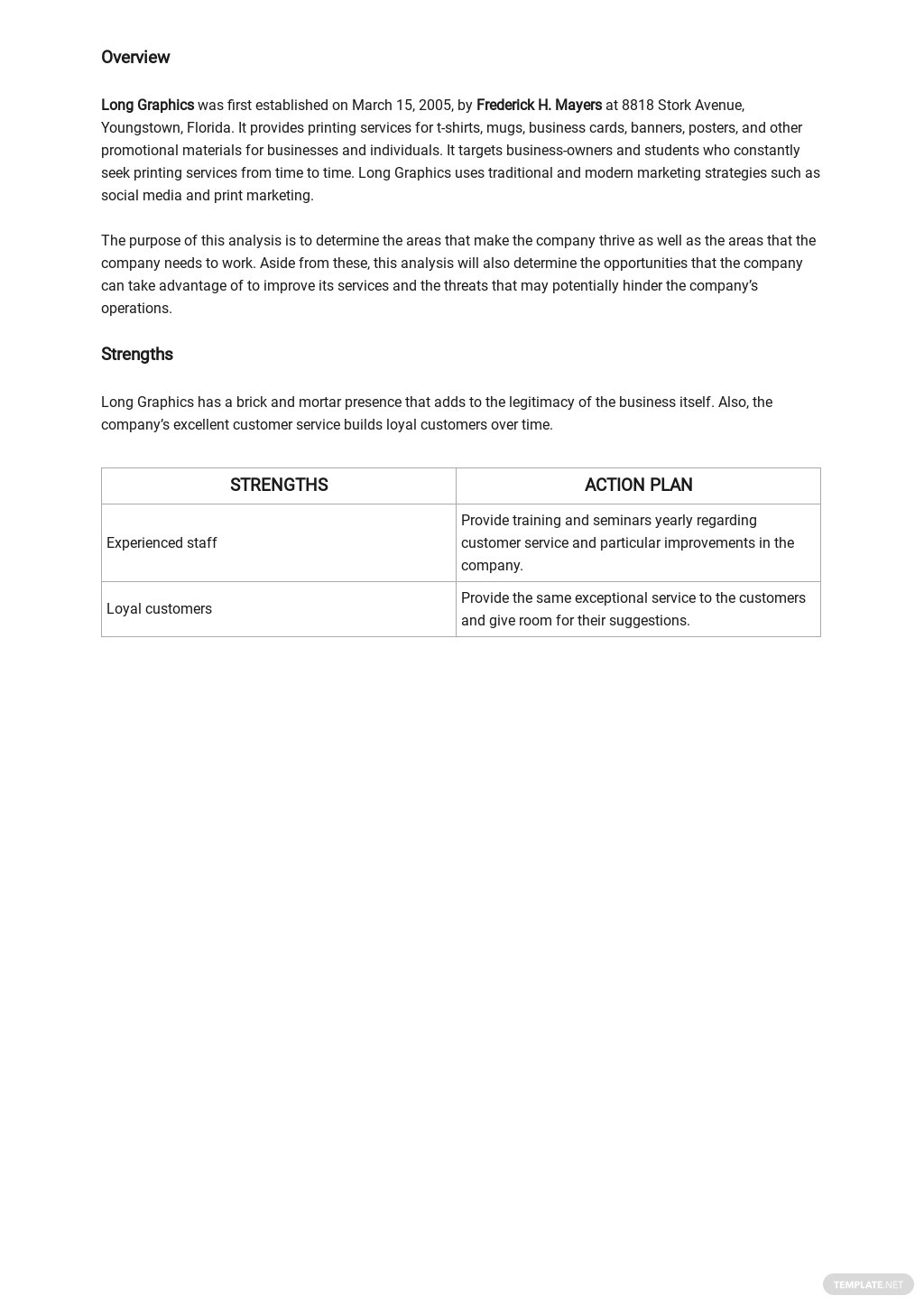 SWOT Analysis Template for Small Business Template 1.jpe