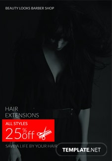 Free Barbershop A3 Bifold Brochure Template