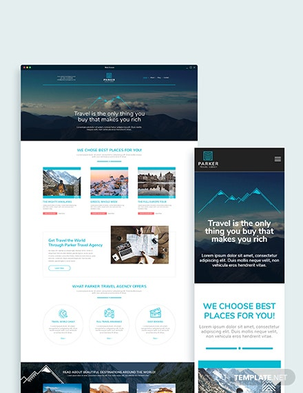 Travel Agency Bootstrap Landing Page Template