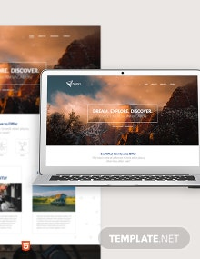 Tours & Travels Bootstrap Landing Page Template