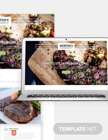 Steak House Bootstrap Landing Page Template