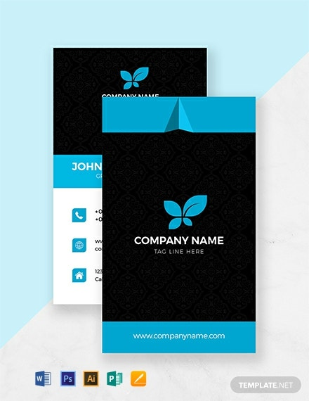 Free Business Style Trading Card Template