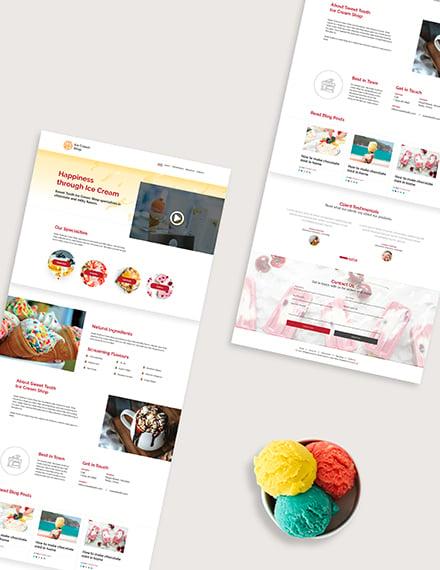 Ice Cream Shop Website Download