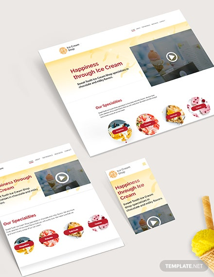 Sample Ice Cream Shop Website