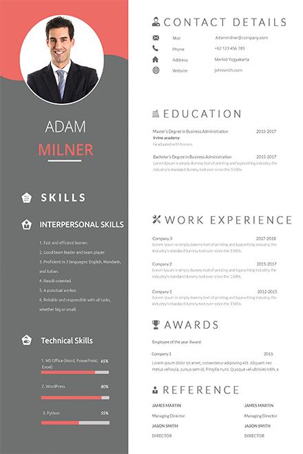 Free BPO Career Resume Template