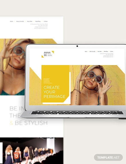 Fashion Designer Website Template