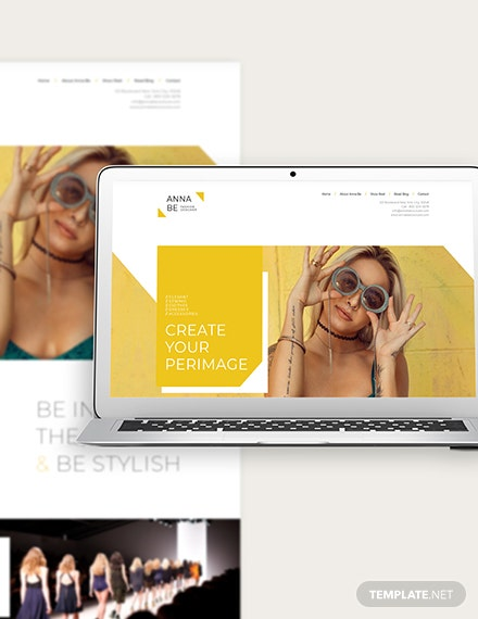 Fashion Designer Bootstrap Landing Page Template