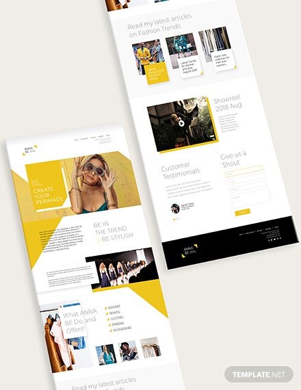 Sample Fashion Designer Website