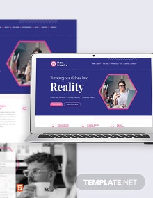 Creative Agency Bootstrap Landing Page Template
