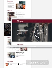 Boutique Bootstrap Landing Page Template