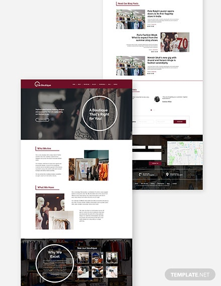 Boutique Website Download