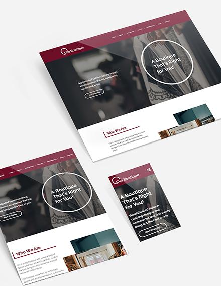 Sample Boutique Website