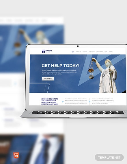 Law Firm Bootstrap Landing Page Template