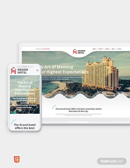 Hotel Bootstrap Landing Page Template