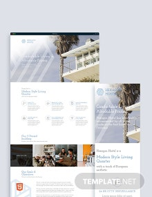Hostel Bootstrap Landing Page Template
