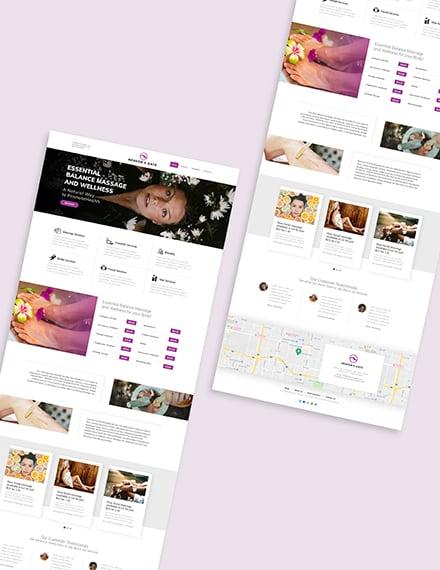 Massage Website Download