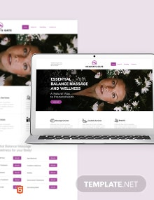 Massage Bootstrap Landing Page Template