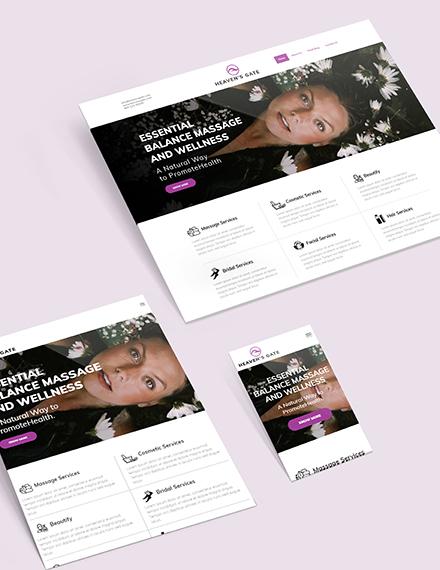 Sample Massage Website