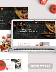 Pizza Bootstrap Landing Page Template