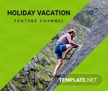 Free YouTube Vacation Channel Template