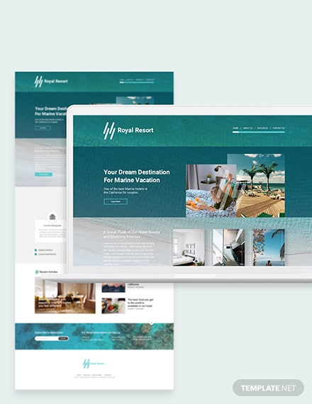Royal Resort Bootstrap Landing Page Template