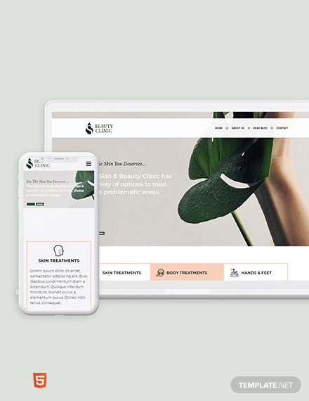 Skin Beauty Bootstrap Landing Page Template