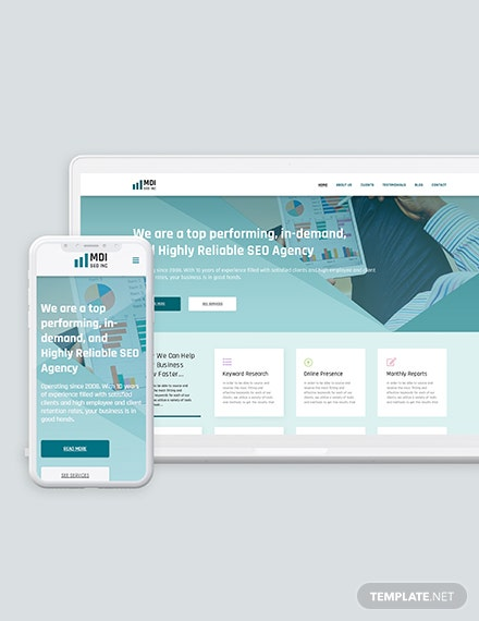 SEO Agency Bootstrap Landing Page Template