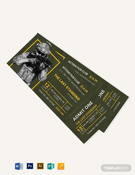 action movie ticket template 2