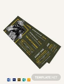 Action Movie Ticket Template