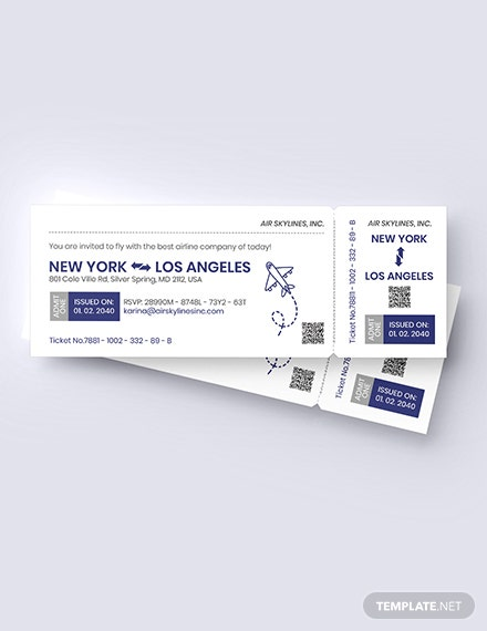 Airline Ticket Invitation Download