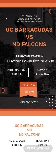 Basketball Ticket Invitation Template.jpe