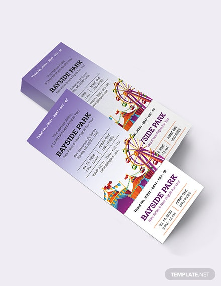 Carnival Party Ticket Invitation Download
