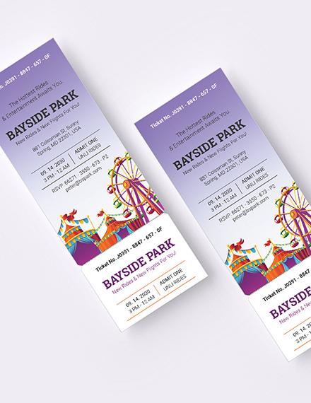 Sample Carnival Party Ticket Invitation