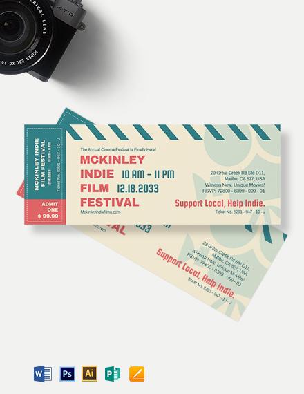 Cinema Event Ticket Template