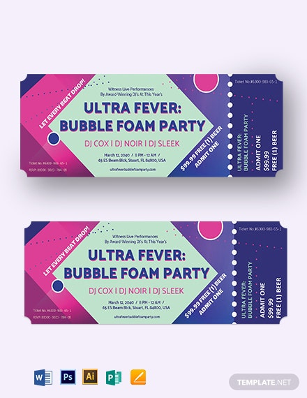 Club Event Ticket Template