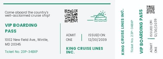 Cruise Ticket Invitation Template