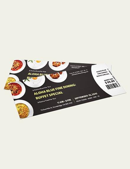 Dinner Event Ticket Download